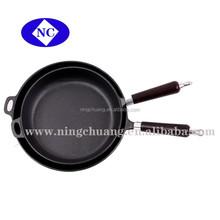 shijiazhuang cast- iron skillet wooden handle