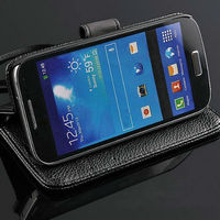 For galaxy s4 Mini china wholesale factory price stand function wallet style smart unique phone case for samsung