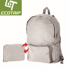 Hot sale nylon Foldable travel bag foldable backpack