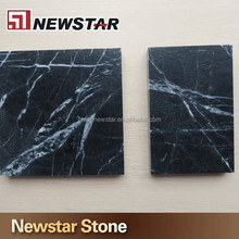 Water jet black marble with white veins