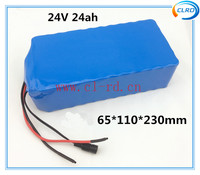 High rate discharge 18650 lithium rechargeable battery pack 6S12P 24v 24ah for mini-motorcycle