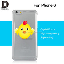 Invisible epoxy clear phone case, for iPhone 6 gel epoxy case