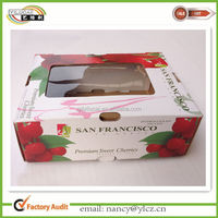 Custom Cherry Paper Packaging Fruit Box with window