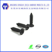 black zinc m3 self tapping screw black flat head screw m3