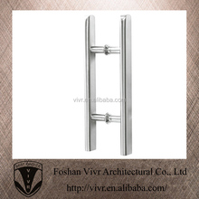durable sss silver entry door pull handles