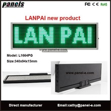 High brightness led desktop display sign/Rechargeable Electronic mini led moving sign
