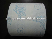Blue butterfly flower print toilet paper