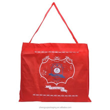 non woven plastic zipper blanket bag with long handle