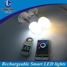 Portable Emit colorful led wine glass light long battery life of 10 hours smart wifi led bulb
