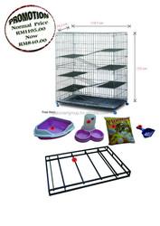 Ultra Foldable Premium Cat Cage (extra large) FSCC-5