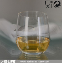ASG3099_Wine Drinking Glasses!Lead Free Crystal Stemless Wine Glass
