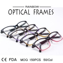 Fashionable factory directly supply colorful square optical frames with crystal