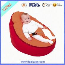 Popular Red Polyester Baby Bean Bag for Sleep Baby Bean Bag Chair OEM