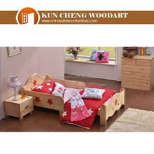 Good Quality Low Price Wood Telescopic bed/Solid Wood Bed/Single Bed Of European Style