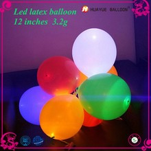 2015 newest professional manufacturer design party decoration luminous balloon, led flashing balloon, glow balloon in the light