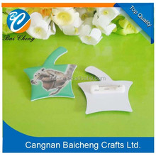 adorable angle pvc name tag/ pin name badge with competitive price supplies top quality selling around the world