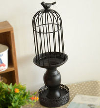 Zakka wrought iron candlestick ,Cage candlestick ,Creative household actS, B0627 gift arts and crafts