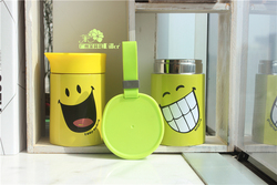 oem cute smile face color warm food container smoldering pot can