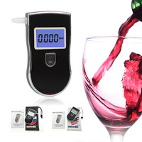 Brand New professioanl police breath alcohol tester AT818 with 5 mouthpieces LCD screen alcohol meter supplier