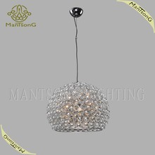 2015 hot sale modern dining room lighting round crystal pendant lamp