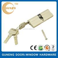 Euro profile rfid oval brass key cylinder lock, mortise door lock cylinder, cylinder push lock cover door security