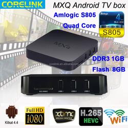 New arrival Amlogic S805 Quad Core full hd 1080p porn video android smart tv box