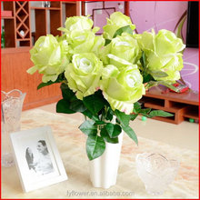 Fashionable hot-sale pure white rose flower artificial