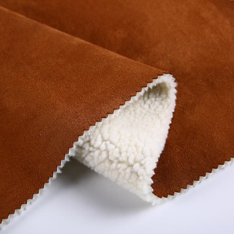 2019 heißer verkauf Polyester dicken verriegelung sherpa gebunden stricken stoff wildleder