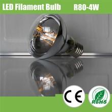 2015 led R80 LED Edison bulb type dimmable filament led bulb, 4W LED filament lamp lighting