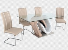 glass dining table brushed stainless steel base