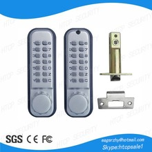 High quality and security Mechanical push button keypad code door lock