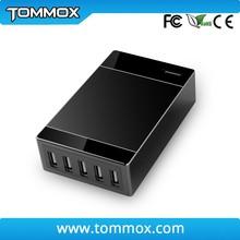 50Pcs moq 1.5M desktop 5 Port USB 5V 8A 40W Charger Power Adapter EU/US/UK Plug For iPhone for Samsung