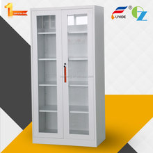 movable handles customize color deluxe new style glass doors kitchen cabinet pantry design office furniture