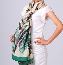 new Fashion winter wear wool shawl for women,feather design