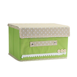 DHZ15533 Mint Green Non Woven Fabric Cosmetic Storage Container Box