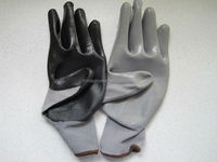 nitrile industrial gloves coated 13guage polyester nylon working gloves