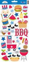 Patriotic Picnic Icon Sticker Sheet