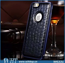 Super Hot Ultra Slim Leather+PC Case for iPhone 6 Plus, Luxury Case for iPhone 6 Crocodile Pattern