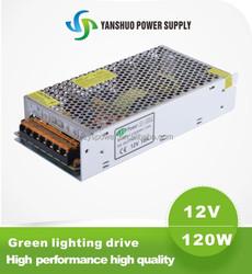 china manufacturer 12V 120W led transformer 10A 12v moso led driver in 120W led strip power supply