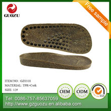 PU and Rubber and tpr suela shoe sole factory in China