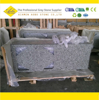 Double Full bullnose edge Swan White home depot granite countertop