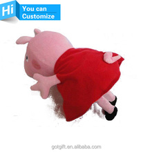 Promotional peppa pig plush doll for kids