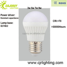 plastic cover factory price 3W energy saving light bulb