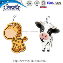 Factory promotional paper car air freshener/car freshener/paper air freshener