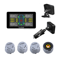 Tire Pressure Monitoring System LED Cigarette Lighter External Sensors Car Tire Protector