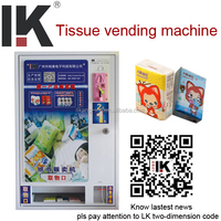 LK-A1401 automatic coin operated tissue paper vending machine for sale