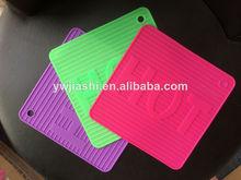 Venta al por mayor de color customed no- palo de silicona de caucho de silicona para hornear esteras/alfombrillas