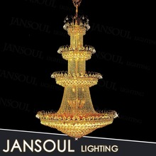 hot new famous brand 4 tiers fiber optic pendant light welles clear crystal round chandelier lighting