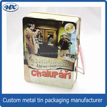 Metal portable dvd case wedding dvd case