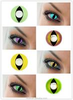 unique design green cat eye cosplay crazy contact lens